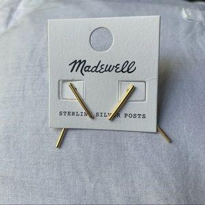 Madewell Gold Bar Earrings